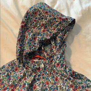 Baby gap girls floral rain coat